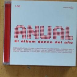 VARIOS - ANUAL EL ALBUM DANCE DEL AÑO - 3 CD