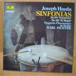 HAYDN / KARL RICHTER - SINFONIAS NO 94 SORPRESA / NO 101 EL RELOJ - LP