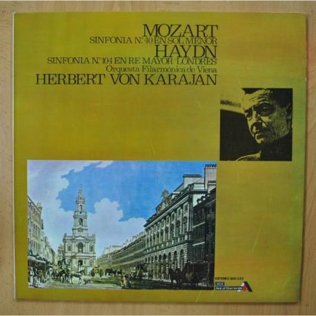 MOZART / HAYDN / KARAJAN - SINFONIA N 40 EN SOL MENOR / N 104 EN RE MAYOR LONDRES - LP