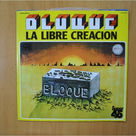 BLOQUE - LA LIBRE CREACION - PROMO - MAXI