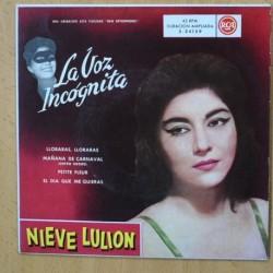 NIEVE LULION - LLORARAS, LLORARAS + 3 - EP