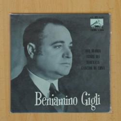 BENIAMINO GIGLI - AVE MARIA + 3 - EP
