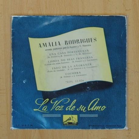 AMALIA RODRIGUES - UNA CASA PORTUGUESA + 3 - EP