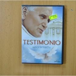 TESTIMONIO LA HISTORIA INEDITA DEL PAPA JUAN PABLO II - DVD