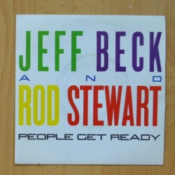 JEFF BECK AND ROD STEWART - PEOPLE GET READY / BACK ON THE STREET - SINGLE