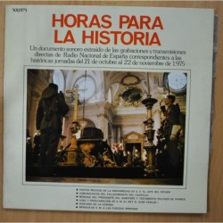 VARIOUS - HORAS PARA LA HISTORIA - GATEFOLD LP