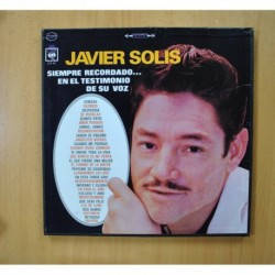 JAVIER SOLIS - SIEMPRE RECORDADO... EN EL TESTIMONIO DE SU VOZ - BOX 3 LP