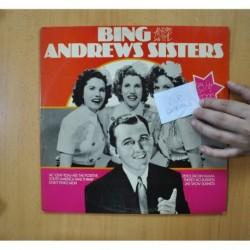 BING CROSBY / THE ANDREWS SISTERS - BING AND THE ANDREWS SISTERS - GATEFOLD 2 LP