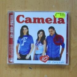 CAMELA - 10 DE CORAZON - CD + DVD