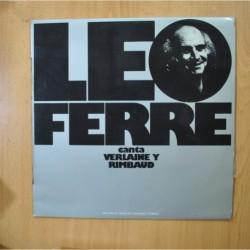 LEO FERRE - CANTA VERLAINE Y RIMBAUD - LP