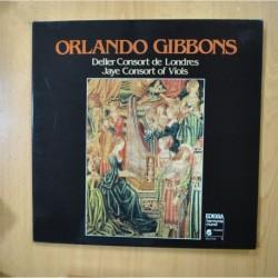 ORLANDO GIBBONS - DELLER CONSORT DE LONDRES / JAYE CONSORT OF VIOLS - GATEFOLD