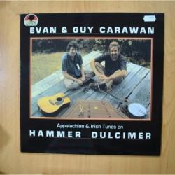 EVAN & GUY CARAWAN - APPALCHIAN & IRISH TUNES ON HAMMER DULCIMER - LP