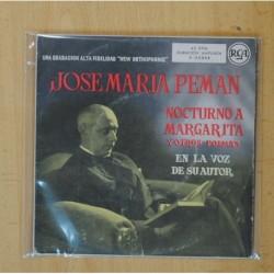 JOSE MARIA PEMAN - NOCTURNO A MARGARITA + 11 POEMAS - EP