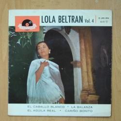 LOLA BELTRAN - EL CABALLO BLANCO + 3 - EP