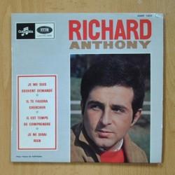 RICHARD ANTHONY - JE ME SUIS SOUVENT DEMANDE + 3 - EP