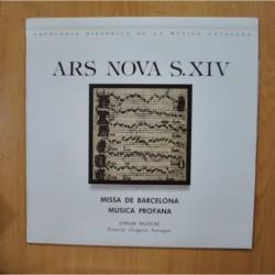 GREGORIO PANIAGUA - ARS NOVA S XIV - LP