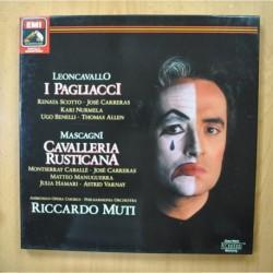 MUTI / LEON CAVALLO / MASCAGNI - I PAGLIACCI / CAVALLERIA RUSTICANA - + LIBRETO BOX 2 LP