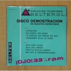 VARIOS EDICION MUSICAL BELTER DSICO DESMOSTRACION - CATALINA + 7 - EP