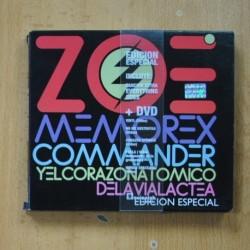 ZOE - MEMO REX COMMANDER Y EL CORAZÓN ATÓMICO DE LA VÍA LÁCTEA - CD + DVD