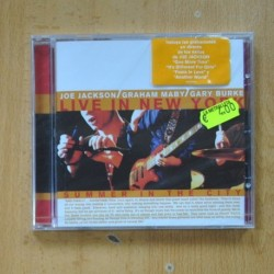 JOE JACKSON / GRAHAM MABY / GARY BURKE - LIVE IN NEW YORK SUMMER IN THE CITY - CD
