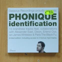 PHONIQUE - IDENTIFICATION - CD