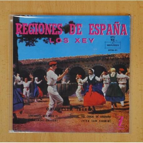LOS XEY ORQUESTA IBERICA REGIONES DE ESPAÑA - SANTANDER QUE BELLO ES + 3 - EP