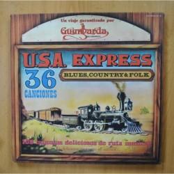VARIOS - USA EXPRESS 36 CANCIONES BLUES COUNTRY & FOLK - BOX 3 LP