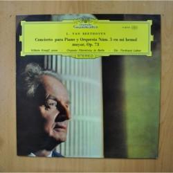 BEETHOVEN - CONCIERTO PARA PIANO Y ORQUESTA NUM 5 EN MI BEMOL MAYOR OP 73 - LP
