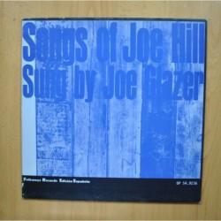 JOE GLAZER - SONGS OF JOE HILL SUNG BY JOE GLAZER - LP