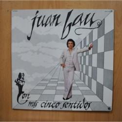 JUAN BAU - CON MIS CINCO SENTIDOS - PROMO GATEFOLD LP