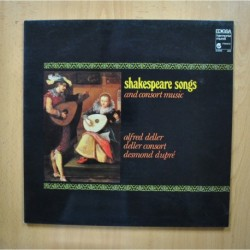 VARIOS - SHAKESPEARE SONGS AND CONSORT MUSIC - LP