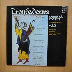 CLEMENCIC CONSORT - TROUBADOURS - LP