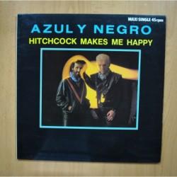 AZUL Y NEGRO - HITCHCOCK MAKES ME HAPPY - MAXI