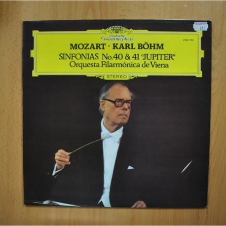 MOZART / KARL BOHM - SINFONIAS NO 40 & 41 JUPITER - LP