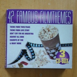 VARIOS - 42 FAMOUS FILM THEMES - 3 CD