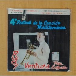 RUDY VENTURA Y SU CONJUNTO - 4 FESTIVAL DE LA CANCION MEDITERRANEA - EP