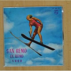 TULLIO GALLO, SU ORQUESTA Y COROS - SAN REMO EN RITMO 1962 - QUANDO, QUANDO, QUANDO + 3 - EP