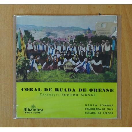 ISOLINO CANAL (CORAL DE RUADA DE ORENSE) - NEGRA SOMRA + 3 - EP
