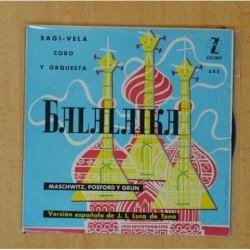 BALALAIKA SAGI-VELA - FUE EN LA BALALAIKA + 3 - EP