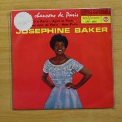 JOSEPHINE BAKER - EN AVRIL A PARIS + 3 - EP