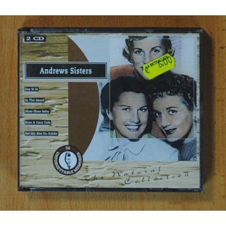 ANDREWS SISTERS - THE NATURAL COLLECTION - 2 CD