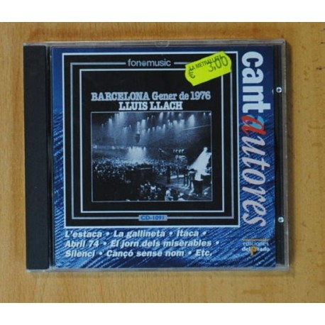 LLUIS LLACH - BARCELONA GENER DE 1976 - CD