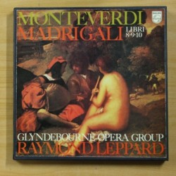 MONTEVERDI / RAYMOND LEPPARD - MADRIGALI LIBRI 8 9 10 - BOX 5 LP