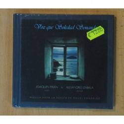 JOAQUIN PIXAN / ALEJANDRO ZABALA - VOZ QUE SOLEDAD SONANDO (MUSICA PARA LA POESIA DE ANGEL GONZALEZ) - CD