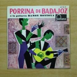 PORRINA DE BADAJOZ - DONDE BEBEN MIS PALOMAS + 3 - EP
