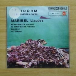 MARIBEL LLAUDES - NO PREGUNTES POR QUE + 3 - EP