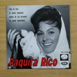 PAQUITA RICO - POR TU VOZ + 3 - EP