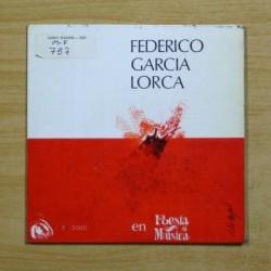 FEDERICO GARCIA LORCA - ROMANCE DE LA PENA NEGRA - EP