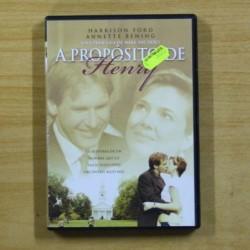 A PROPOSITO DE HENRY - DVD