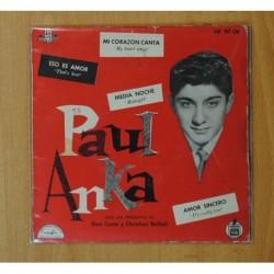 PAUL ANKA - MI CORAZON CANTA + 3 - EP